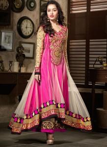 Pink Anarkali Dress Design