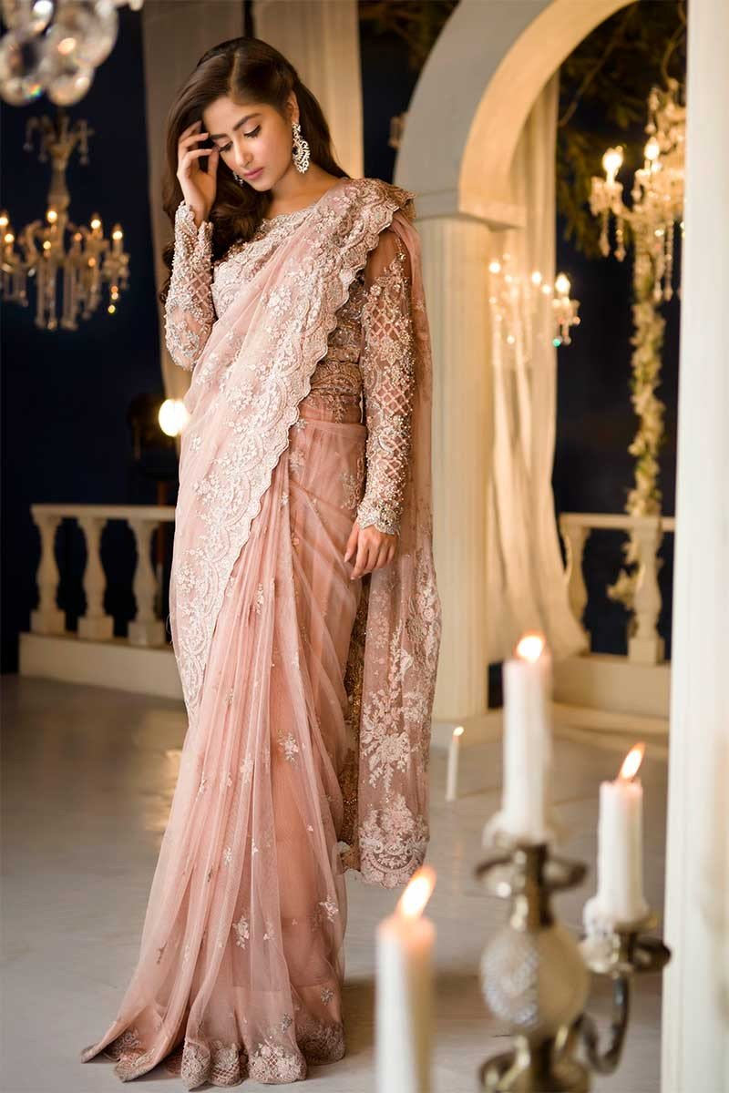 Latest Pakistani Designer Saree Designs 2019 For Women