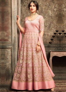 Pink Color Anarkali Suit