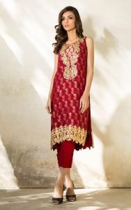 Red Short Kurti Design