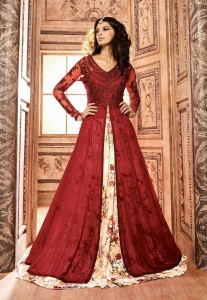 Reddish Anarkali Dress