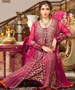 Reddish Shaded Bridal Dress