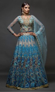 Royal Blue Color Bridal Dress