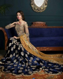 Royal Blue Dress For Bride