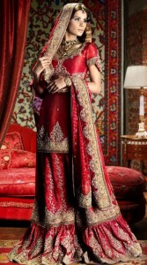 Royal Dress for Bride In red