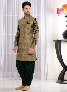 Royal Green Sherwani Style