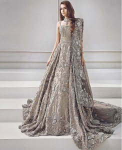 Silver Dress for Engagement