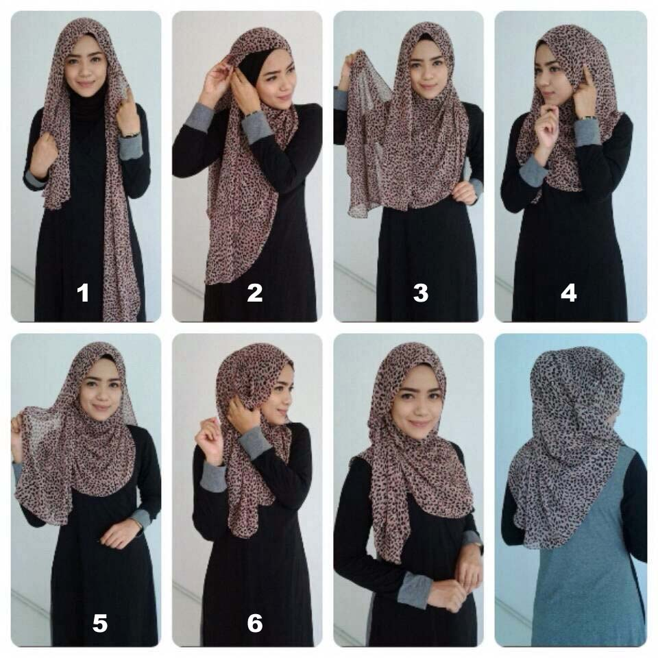 How to triangle wear scarf hijab exclusive photo