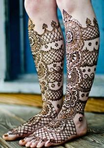 Full Legs Mehendi Design