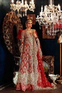 Waleema Dress In Red