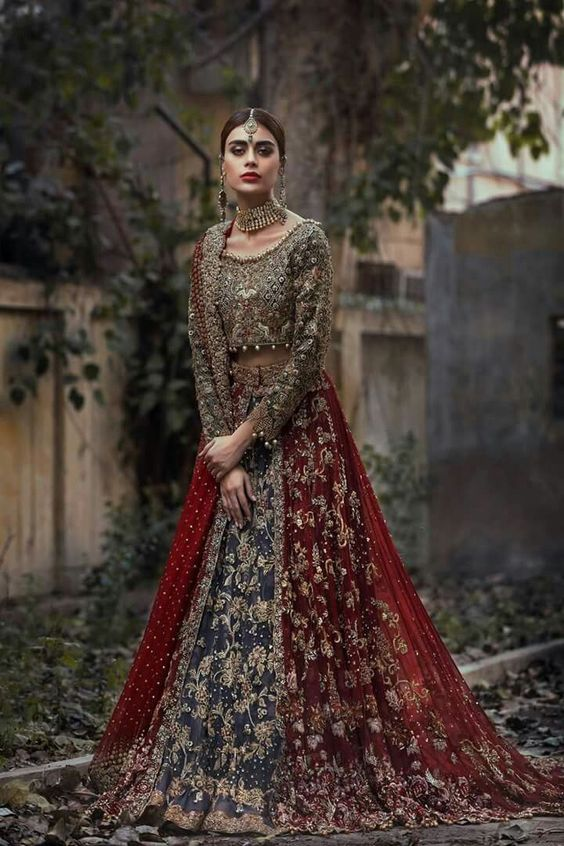 1d4ebaf50 Ladies prefer this tone the most and their first choice is most of the time  red when it comes to bridal wear dresses. Yet the most appealing and  stylish ...
