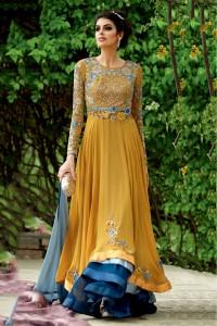 Yellow Color Anarkali Dress