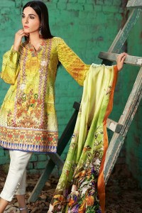 Yellow Suit Lawn Stitched