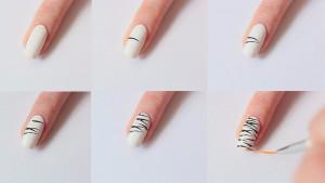 Zebra Print Nail Art Design