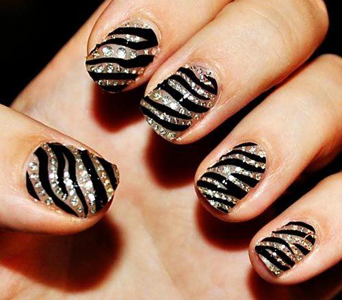 Zebra Print Nails Step By Step Tutorial How To Do Nail Art Guide