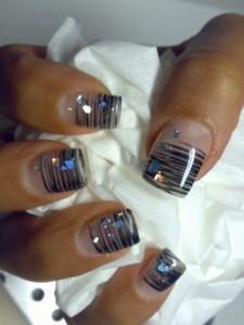 Zebra Style Nail Art