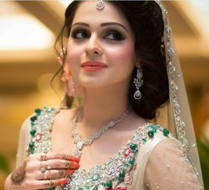 Pakistani Walima Dress with Makeup