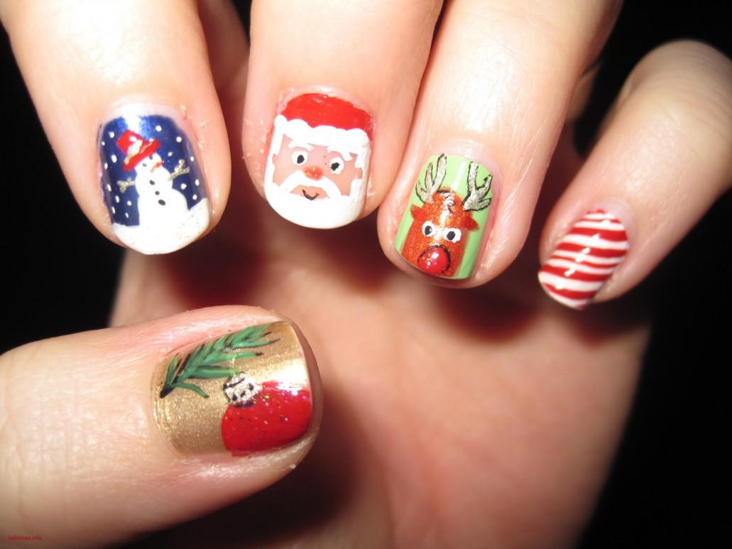 Best Easy & Lovely Christmas Nail designs  DIY Nail Art Tutorials ...