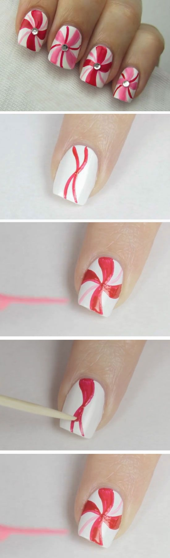 Best Easy Lovely Christmas Nail Designs Diy Nail Art Tutorials