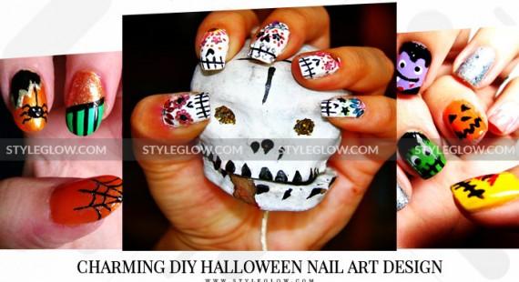 Charming-DIY-Halloween-Nail-Art-Design