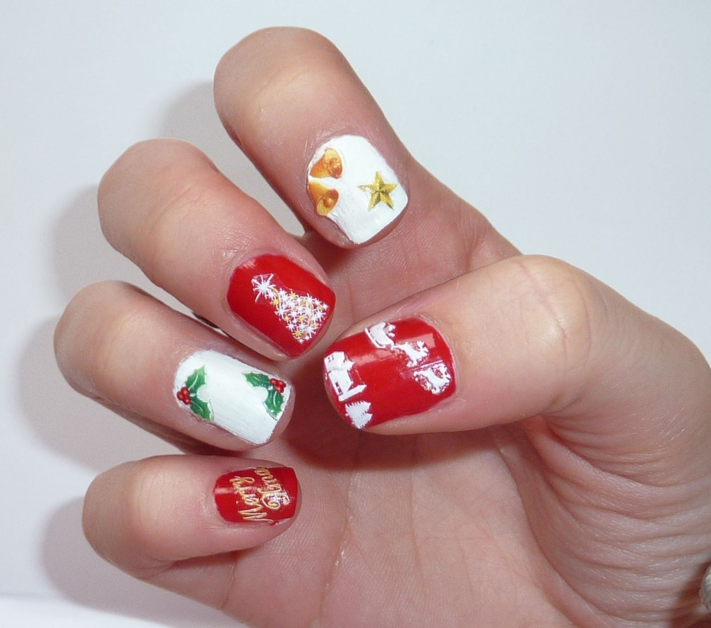 Christmas Nail Art Tutorial Gingerbread Galore: Best Easy & Lovely Christmas Nail Designs