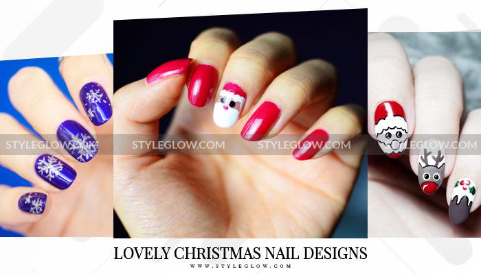 Best Easy Lovely Christmas Nail Designs Diy Nail Art Tutorials