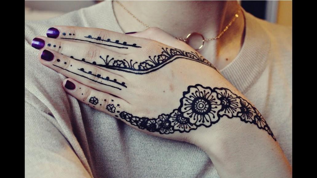Black Henna Designs: Latest Eid Mehndi Design Collection 2020 For Girls