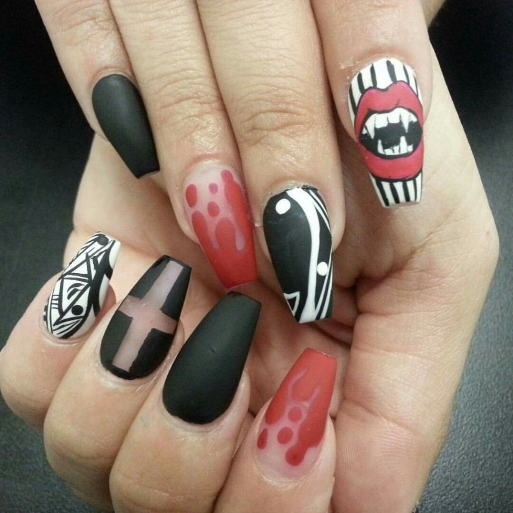 6 Best Easy & Charming DIY Halloween Nail Art Design ...