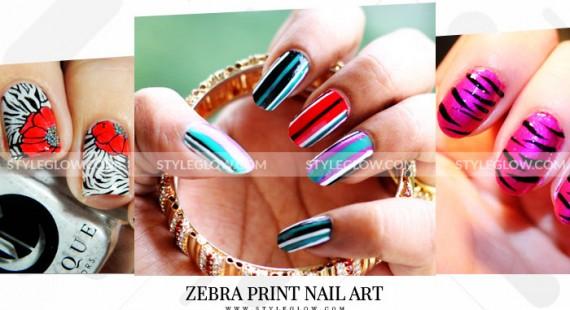 Zebra Print Nail Art Designs